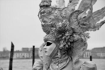 blackandwhite mask portrait venice carnival