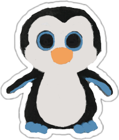 freetoedit penguin waddles blue blackandwhite