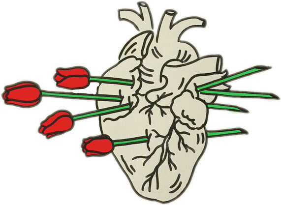 #heart #rose #red #green