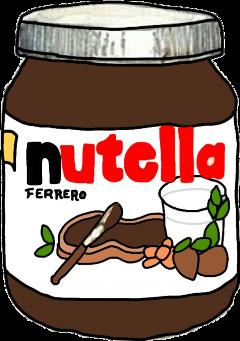 nutella sweet chocolate dessert freetoedit