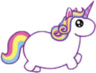 unicorn rainbow sticker horse freetoedit
