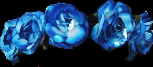 flower power wreath blue nice