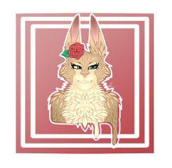 cute bunny newartstyle fur drawing