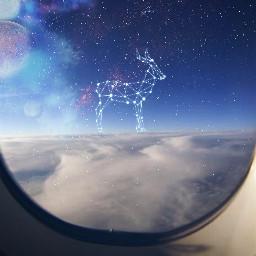 airplaneviewremix freetoedit space stars constellations