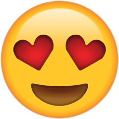 hearteyes emoji freetoedit