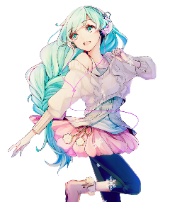 anime female mikuhatsune cute freetoedit