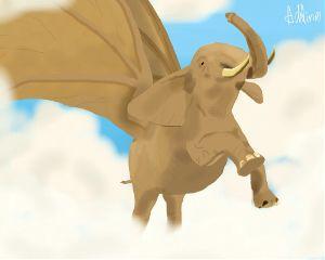 wdpflyingelephants elephant notreal myart noreference