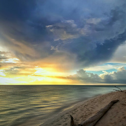 horizon beach colorful cloud photography