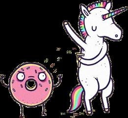 unicorn donut freetoedit