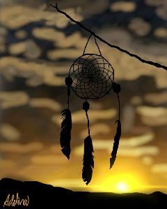 wdpdreamcatcher sunset flare drawnwithpicsart art