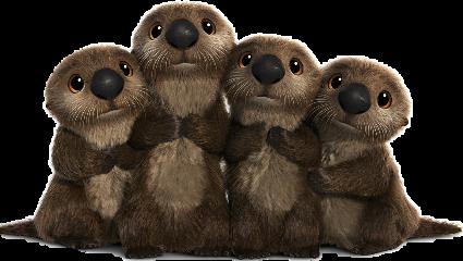 disney otter cute freetoedit