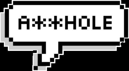 speachbubble pixel pixelspeechbubbles asshole freetoedit
