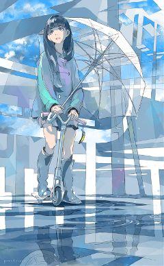 anime art digitalart emotions colorful