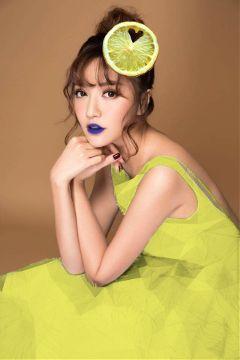 freetoedit yellowdress girl edited lemon
