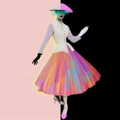 colorful photographyanddrawing drawing girl skirt