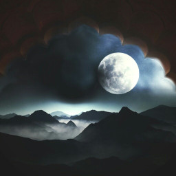 freetoedit remixed moon clouds arc