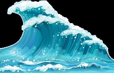water waves ocean blue freetoedit