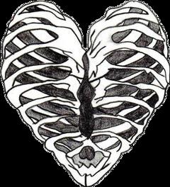coração esqueleto freetoedit cora