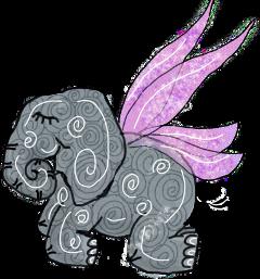 elephant fairy fantasy origftestickers freetoedit