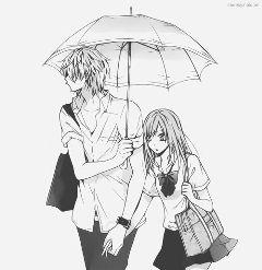 anime couple love digitalart cute