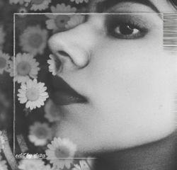 remix bnw blackandwhite flowers portrait