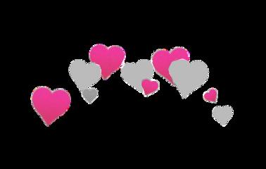 pink grey gray hearts pinkhearts