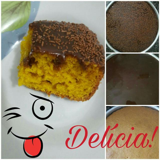 Unhh que delícia! 😄 Ultimamente estou uma verdadeira cheff na cozinha 😂😂😂 #BolodeCenoura 🍰 #CoberturadeChocolate 🍫