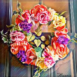 wreath flowers spring door interesting