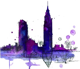 tumblr watercolor city art drawing