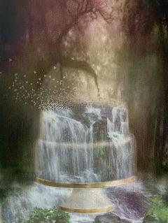 freetoedit cake forest waterfall cakeremix