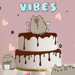 kawaii cat cake sweet freetoedit
