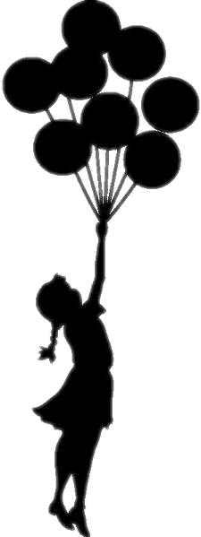 #FreeToEdit #girl #baloons #silhouette