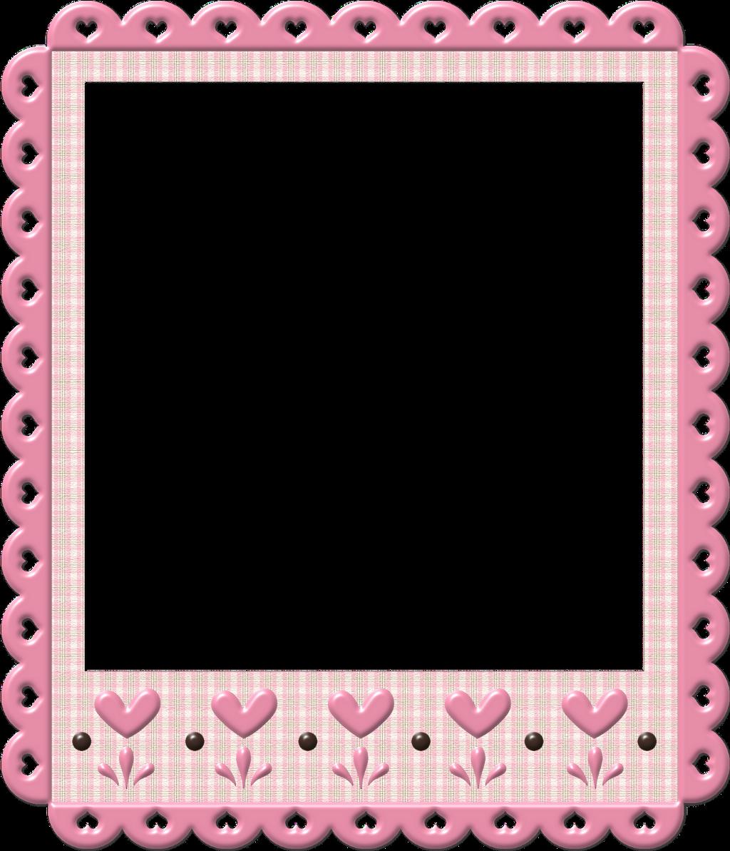 #pink #frame #hearts