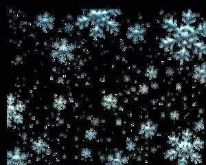 floating snowflakes blue glittery freetoedit