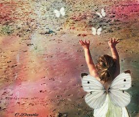 freetoedit edited butterflies girl innocent