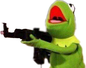 meme kermit frog crazy