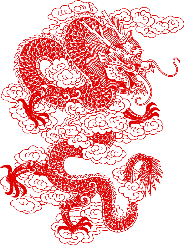 #chinese #asian #dragon #papercut #chinesedragon #ftestickers