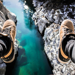 FreeToEdit shoes water blue object nature boy people