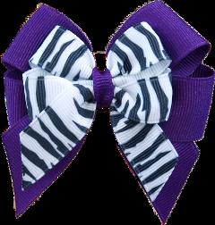 purple bow hairbow zebra freetoedit