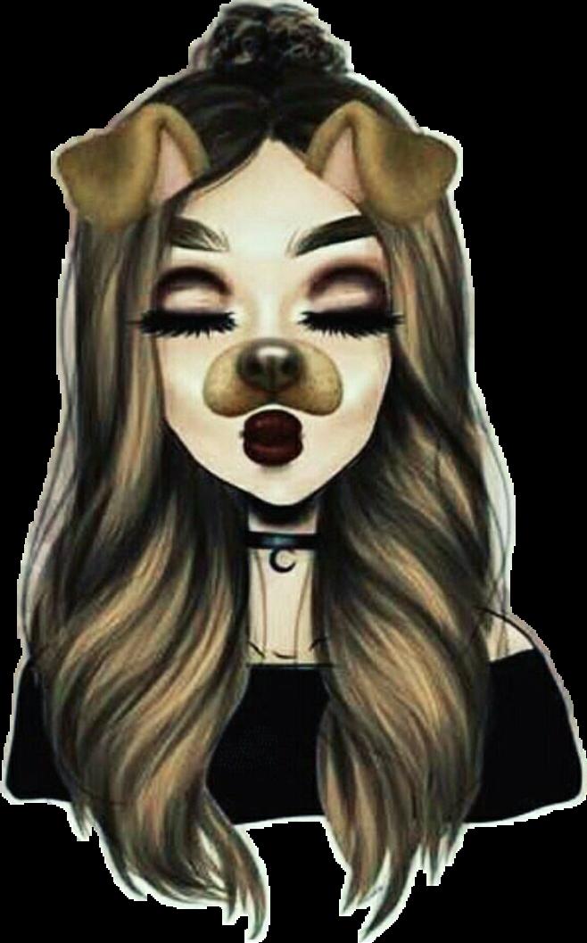 Dibujo Snapchat Chica Tumblr Perritosnapchat