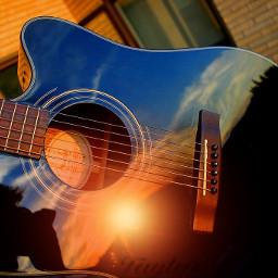 freetoedit amazing sunset beautiful guittar