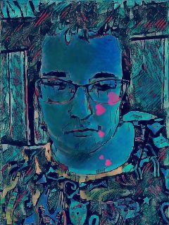 magiceffect sadness blue emotions selfie freetoedit