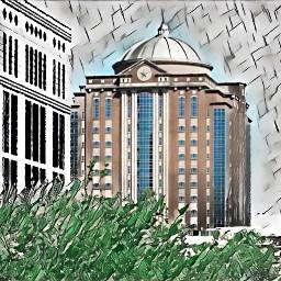 freetoedit houston city greenmagiceffect shadesofgraymagiceffect
