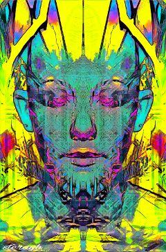 psychedelic retro color popart