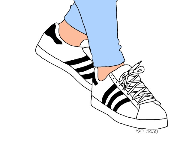 #FreeToEdit #adidas #shoes #sport #jeans #outline #nuriia30