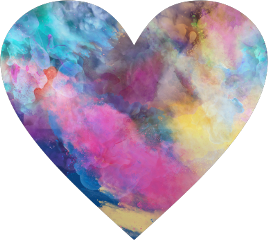 shapes heart love colorful gradients freetoedit