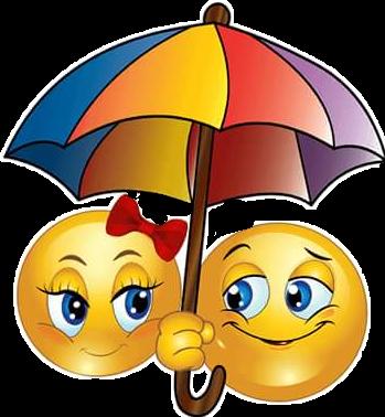 emoji rain umbrella love hugsmorning enjoytoday cartoon