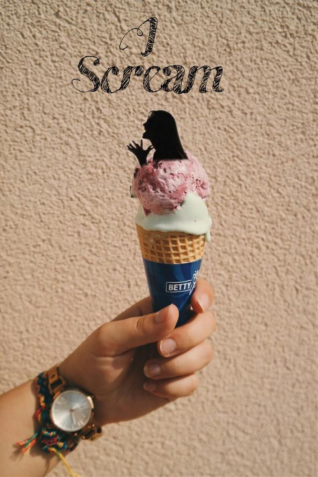 #FreeToEdit #iscream #icecream #scream