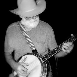 people blackandwhite photography music banjo freetoedit