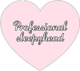sleepy cute heart love kawaii